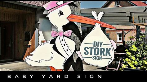 making  baby stork wooden yard sign youtube