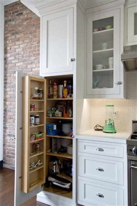 add a pantry cabinet to your kitchen add a shallow shelf for condiments spices to the inside 9688