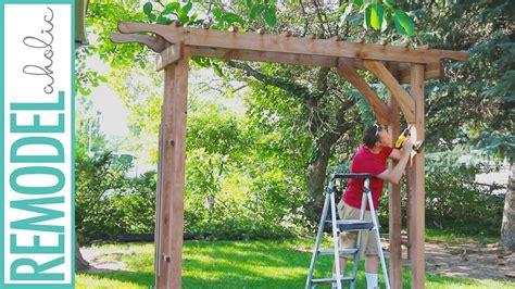 build  wood arbor  garden yard  wedding