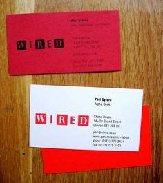 creative red business cards
