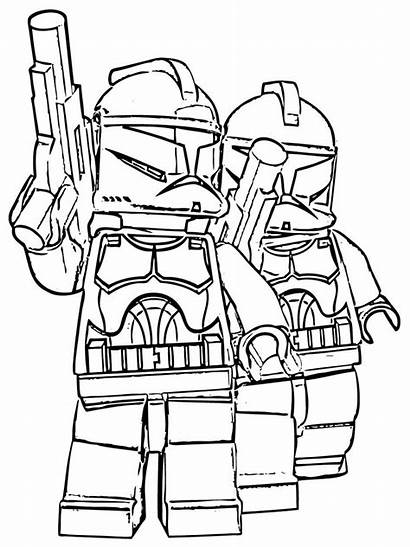 Coloring Wars Star Pages Lego Boys Printable