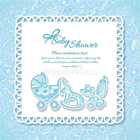 baby shower greeting card  baby boy stock vector
