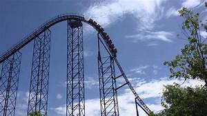 Bizarro roller coaster at Six Flags New England - YouTube
