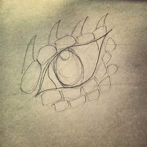 Dragon Eye (Pencil Sketch Outline) by katiee-e on DeviantArt