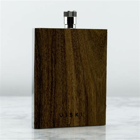 Wood And Stainless Steel Naval Flask  The Vinepair Store