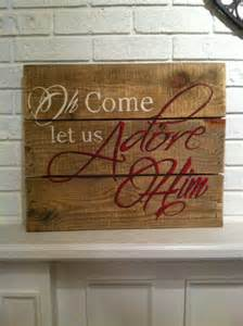 Christmas Pallet Signs On Wood