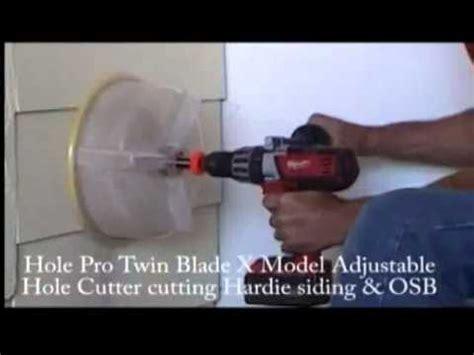 hole pro milwaukee adjustable twin blade hardie siding
