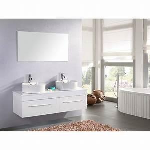 Meuble Salle De Bain 150 : meuble de salle de bain white cardellino 150 cm 741511 68 salle de bain wc ~ Teatrodelosmanantiales.com Idées de Décoration