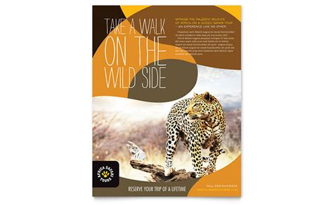 african safari flyer template design