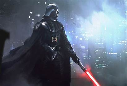 Vader Darth Wars Star Lightsaber Artwork Digital
