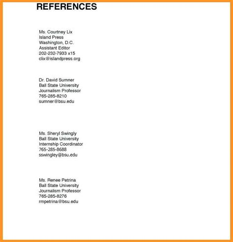 Reference Page Resume by 14 15 Resume And Reference Page Southbeachcafesf