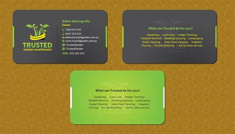 bold professional business card design design for adam