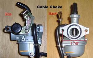 110cc Pz19 Carburetor Hand And Cable Choke