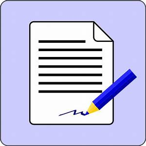 Sign document contract icon clip art at clkercom vector for Sign my documents