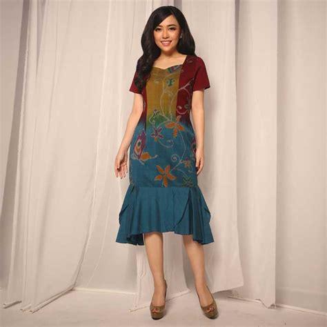 dress batik hijab  kondangan lifestyle wanita