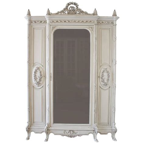 19th Century Painted Antique French Louis Style Armoire