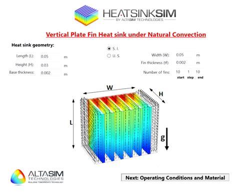 heat sink design altasim designs and deploys apps to spread simulation