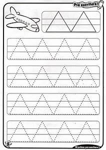 Preescritura: fichas para niños de 4 años Material de Aprendizaje