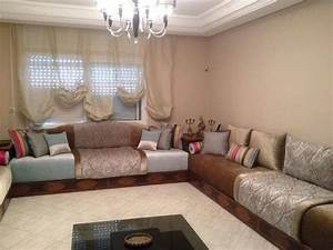 salon marocain moderne moroccan sofa pinterest With salon en tissus moderne
