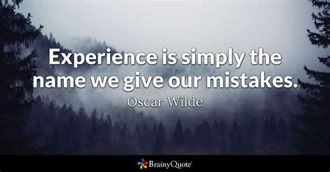 experience  simply    give  mistakes