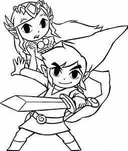 Ausmalbilder, Zelda, Kostenlos
