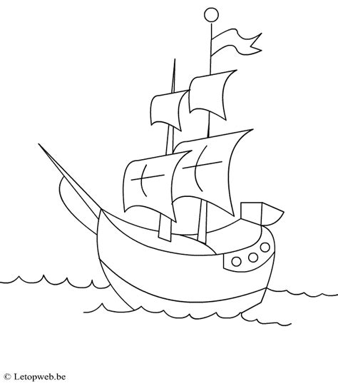 dessin facile bateau pirate