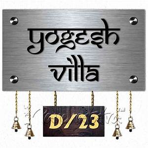 buy metal hanging name plate signage for home online in With name plate designs for home