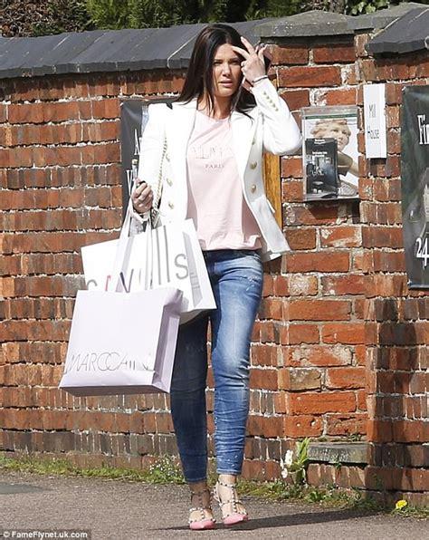 New mum Rebekah Vardy shows off slender post-baby figure ...