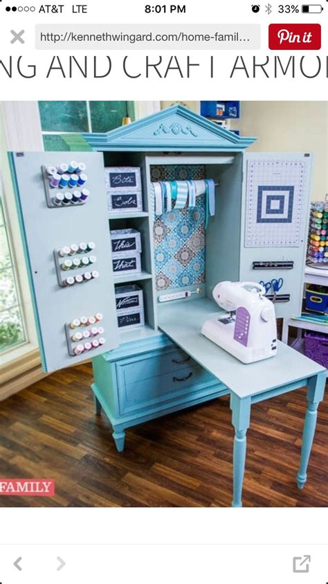 Sewing Machine Armoire Cabinet Craft Armoire Craft Room In 2018 Craft