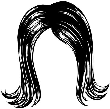 hair clipart black and white my new wig bright makeup tutorial makeup by renren