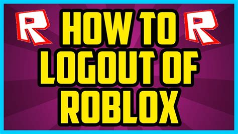 How To Logout Of Roblox On Computer 2017 (quick & Easy