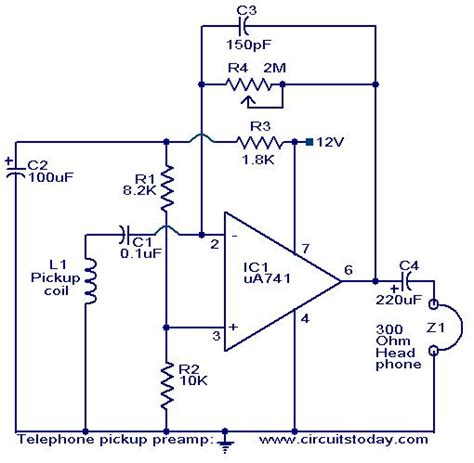 Audio Preamplifiers Circuits Page