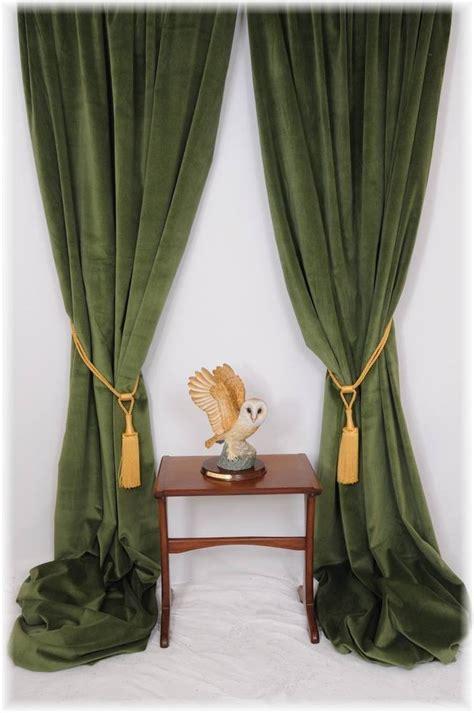 superb forest spruce green velvet curtains bespoke