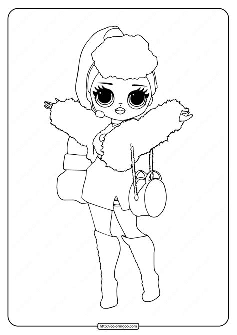 lol surprise omg lady diva coloring page