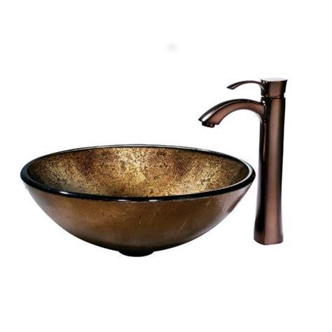 vigo russet glass vessel sink share email