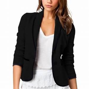 Blazer Femme Noir : blazer veste manches longues pour femme noir noir achat ~ Preciouscoupons.com Idées de Décoration