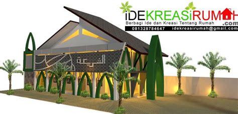desain fasad masjid unik modern minimalis  lantai ide