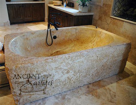 antique   limestone  marble bath tubs  ancient