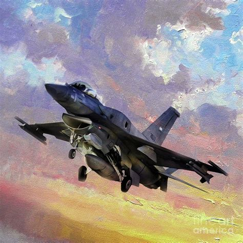 F 16 Fighting Falcon 011v Painting By Gull G