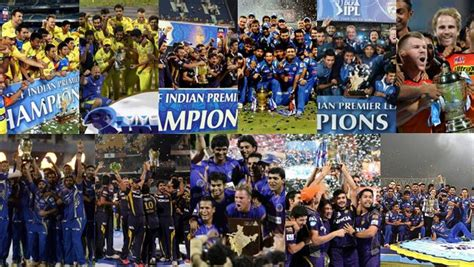 Indian premier league 2021 (ipl 2021) is one of the premier t20 franchise tournaments in the world. In Pics: Past winners of Indian Premier League - Cricket Country