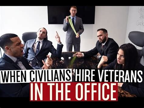 hire office when civilians hire veterans in the office youtube