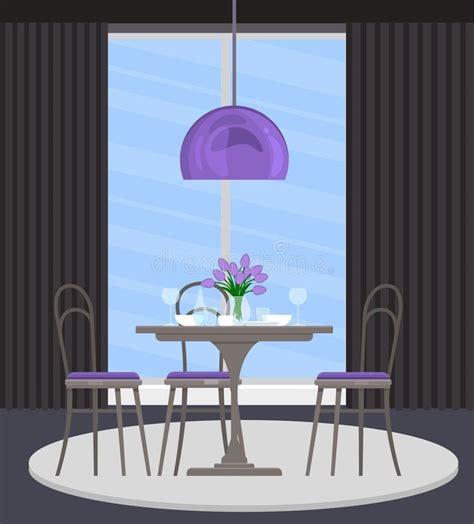 purple  gray living room stock illustration