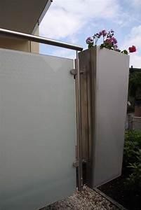 Folie Für Blumenkübel : balkongel nder aus edelstahl mit blickdichtem glas ~ Sanjose-hotels-ca.com Haus und Dekorationen