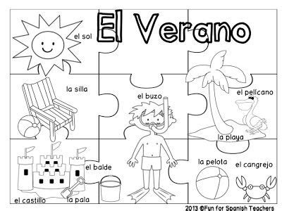 summer words el verano for k 2 289 | 52ef90187993b97bb69c6fadfcd484c8