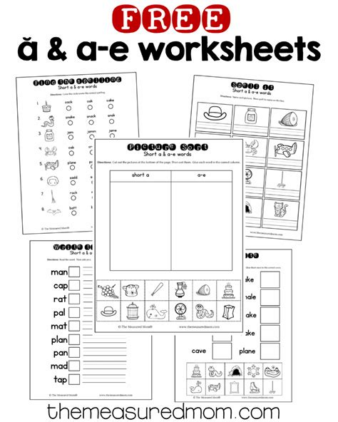 10 Free Short A & Ae Worksheets  The Measured Mom