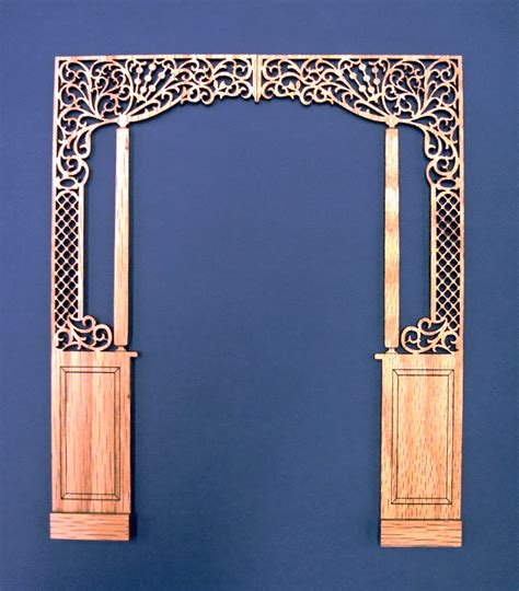 Dollhouse Miniature 112 Scale Room Solid Oak Room Divider