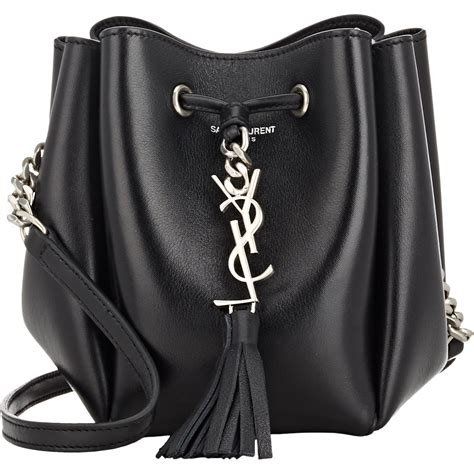 lyst saint laurent bucket bag  black
