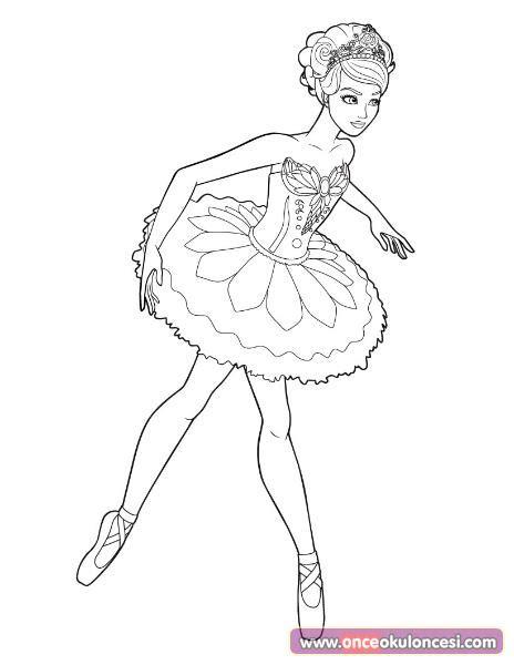 balerin boyama sayfasi