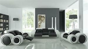 un salon en gris et blanc c39est chic voila 82 photos qui With decoration salon moderne gris