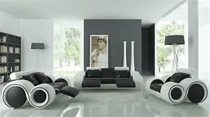 un salon en gris et blanc c39est chic voila 82 photos qui With deco salon moderne gris